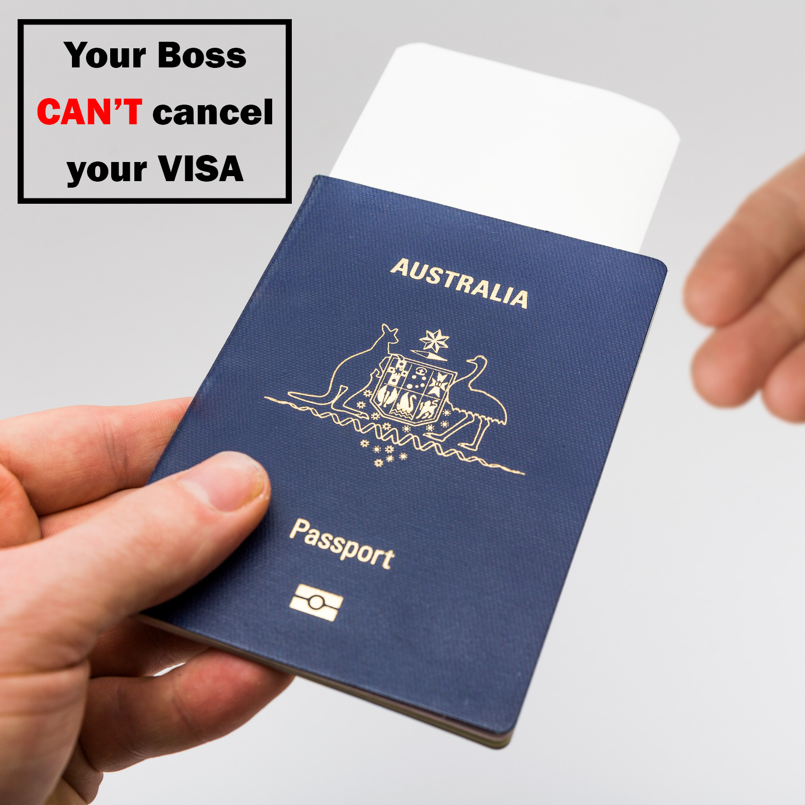 your employer can't cancel your visa